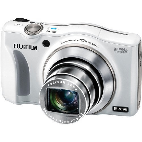 Fujifilm Finepix F850Exr 16 Mp Compact Camera Hd 1080P Movies Video Fujinon 20X Optical Zoom Cmos With 3-Inch Lcd (White)