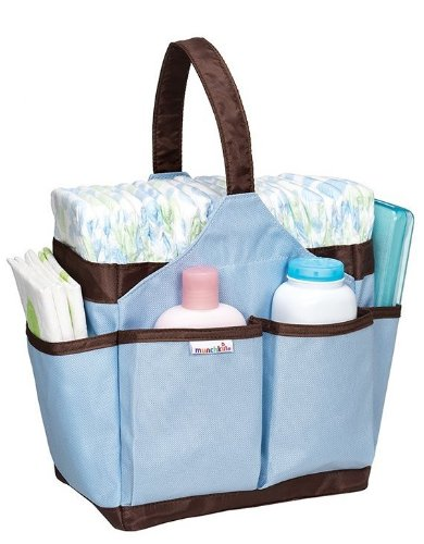 Munchkin Portable Diaper Caddy Blue front-901341