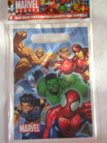 Marvel Spiderman Marvel Heroes Treat Goodie Party Bags ~ 8 Count