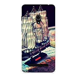 Cute Travel Ship Map Multicolor Back Case Cover for Zenfone 5