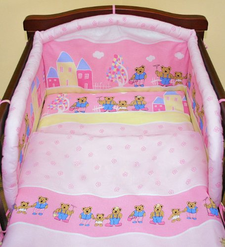Pink city 3 pieces bedding set Cot bed (70cm x 140cm)