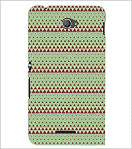 PrintDhaba Pattern D-5243 Back Case Cover for SONY XPERIA E4 (Multi-Coloured)