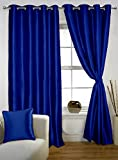 Lushomes Fire Blue Twinkle Star Curtain with Blackout Lining for Long Door