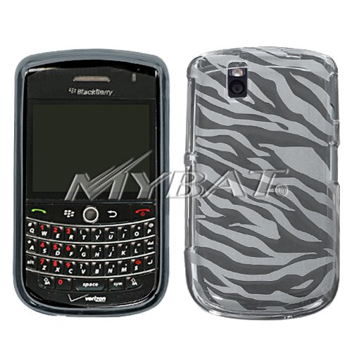 TPU Skin Cover for BlackBerry Tour 9630 & Bold 9650 - Smoke Zebra Stripes