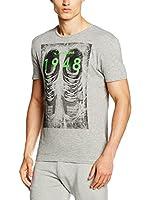Diadora Camiseta Manga Corta (Gris Jaspeado)