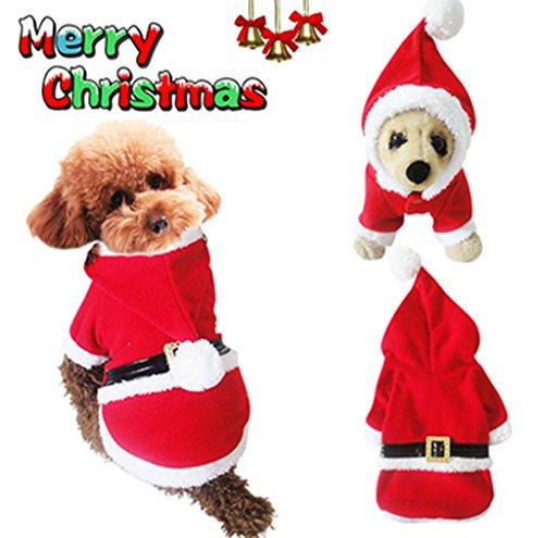ziwater weihnachten haustierkleidung hunde katze weinachten geschenke nikolaus anzug hundemantel. Black Bedroom Furniture Sets. Home Design Ideas