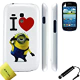 Despicable Me Minion Style Hard Case Cover For Samsung Galaxy S3 mini i8190 + Stylus + Screen Protector AOA Cases® (Style 7)