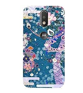 99Sublimation Modern Colourful Flower Design In animation 3D Hard Polycarbonate Designer Back Case Cover for Motorola Moto G4 Plus