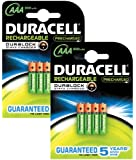 Duracell AAA Pre-Charged Rechargeable Batteries - Pack of 8