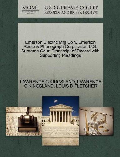 emerson-electric-mfg-co-v-emerson-radio-phonograph-corporation-us-supreme-court-transcript-of-record