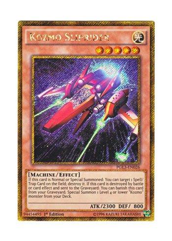 遊戯王 英語版 PGL3-EN026 Kozmo Sliprider (ゴールドシークレットレア) 1st Edition
