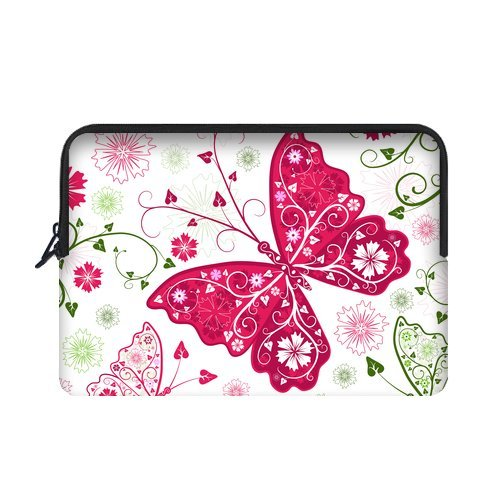 "Yestore Superior Neoprene Butterfly Sleeve Case For Macbook Air 11"" And Laptop 10"""