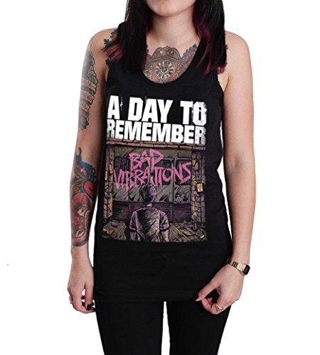 A Day To Remember Bad Vibrations Tank Top T-shirt Black (Medium)