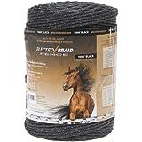 ElectroBraid PBRC1000B2-EB Horse Fence Conductor Reel, 1000-Feet, Black
