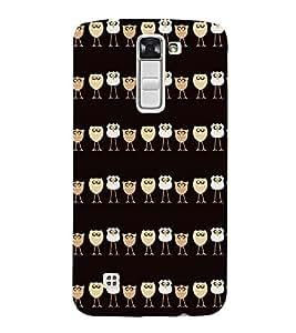 Fuson Premium Cute Owl Printed Hard Plastic Back Case Cover for LG K10