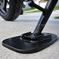 KiWAV Motorcycle kickstand pad support black x1 piece soft ground outdoor par... from KiWAV