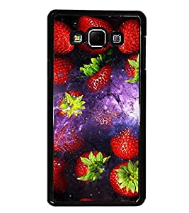 PrintDhaba Strawberries D-2851 Back Case Cover for SAMSUNG GALAXY A8 (Multi-Coloured)
