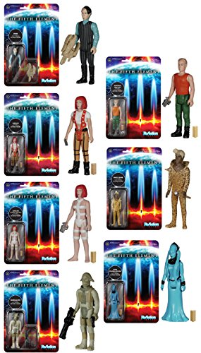 "The Fifth Element Funko ReAction 3 3/4"" Action Figures Set Of 7"