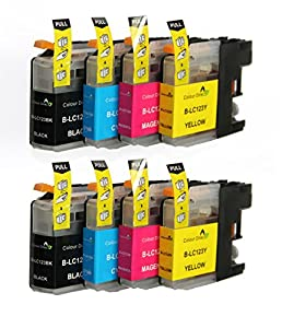 8 XL ColourDirect LC123 / LC121 Chipped Ink Cartridges for Brother DCP-J132W DCP-J152W DCP-J552DW MFC-J650DW DCP-J752DW DCP-J4110DW MFC-J870DW MFC-J4410DW MFC-J4510DW MFC-J4610DW MFC-J4710DW MFC-J470DW Printers