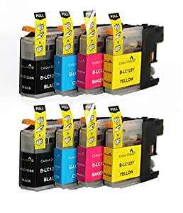 8 XL ColourDirect LC123 / LC121 Chipped Ink Cartridges For Brother DCP-J132W DCP-J152W DCP-J552DW MFC-J650DW DCP-J752DW DCP-J4110DW MFC-J870DW MFC-J4410DW MFC-J4510DW MFC-J4610DW MFC-J4710DW MFC-J470DW MFC-J650DW MFC-J6520DW MFC-J6720DW MFC-J6920DW  Printers
