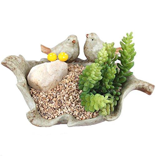 ncyp-vintage-ceramica-pottery-2-pajaros-sobre-una-hoja-flores-macetas-para-flores-musgo-helecho-hoja