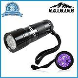 Rainier® Blacklight Flashlight Pet Urine And Stains Detector 12 Led Bright Ultraviolet Flashlight
