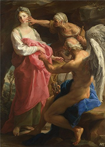 The Perfect Effect Canvas Of Oil Painting 'Pompeo Girolamo Batoni Time Orders Old Age To Destroy Beauty ' ,size: 10 X 14 Inch / 25 X 35 Cm ,this Imitations Art DecorativeCanvas Prints Is Fit For Basement Artwork And Home Artwork And Gifts