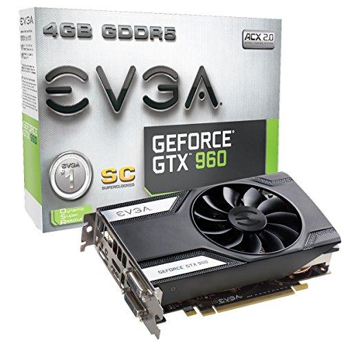 EVGA GeForce GTX 960 Super Clocked ACX 2.0 4GB GDDR5 128 Bit Graphic Card (04G-P4-3962-KR)
