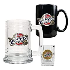 NBA Cleveland Cavaliers 15-Ounce Tankard, 15-Ounce Ceramic Mug & 2-Ounce Shot... by Great American Products