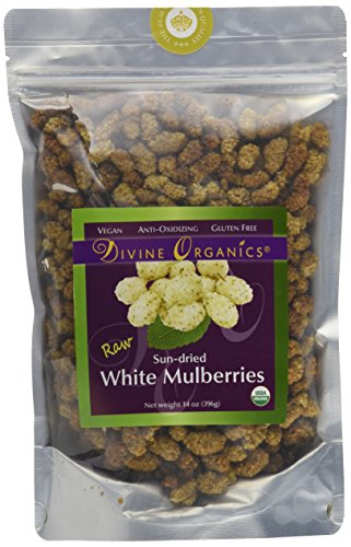 Divine Organics 14oz Raw White Mulberries (White Pickled Ginger compare prices)
