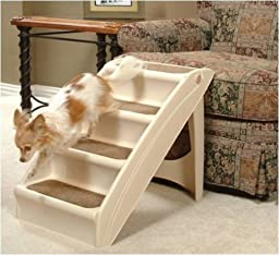 NEW Solvit Plus Pet Stairs PupSTEP, Cat Dog Ramp Steps
