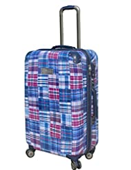 Tommy Hilfiger Palm Spring Polycarbonate Plaid Blue Luggage Set (TH/PLM08055)