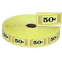 eCart Products Single Roll Ticket - 50 Cents. 2000 tickets per roll.