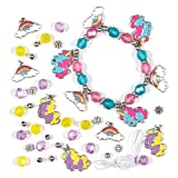 Rainbow Unicorn Jewellery Making Charm Bracelet Craft Kits for Children to Make and Wear (Pack of 3)
