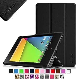 Fintie Google Nexus 7 ( 2013 ) レザー ケース カバー 超薄型 最軽量 スタンド機能 オートスリープ機能 (ブラック)
