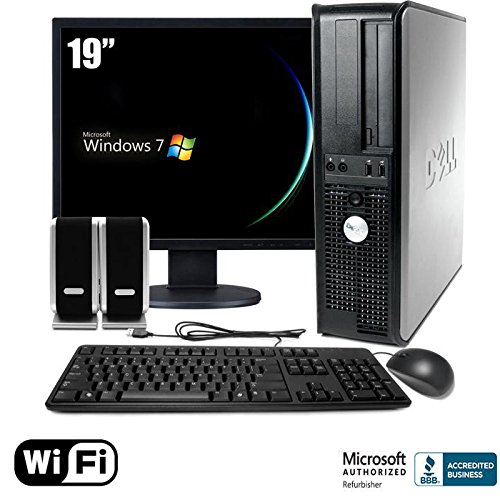 Dell Optiplex 755 Wireless Desktop Core 2 Duo 4Gb Memory 160Gb Hard Drive Windows 7 Complete Computer Package