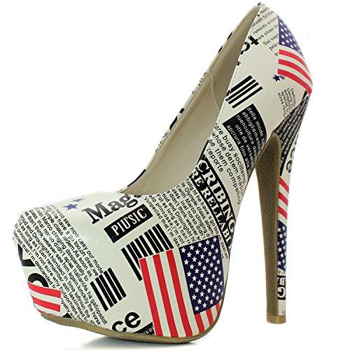 11. Women's Extreme High Fashion Pointed Toe Hidden Platform Sexy Stiletto High Heel Pump Shoes