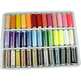 LIHAO 39 Spools Assorted Colors Sewing Threads Set