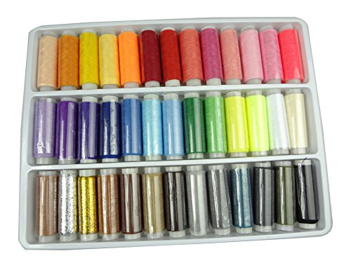 Best Price! LIHAO 39 Spools Assorted Colors Sewing Threads Set