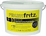 Raumfritz F10 PREMIUM Schimmelschutzfarbe 10 Ltr lösemittelfreier Profi Schutzanstrich gegen Schimmel