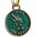 Buds Not Bombs High Flyer O.G. Green Enamel Key Chan