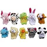 HOSdog Muñecos Marionetas de Dedo de Terciopelo de Estilo Animal Lindo, Juego de 10