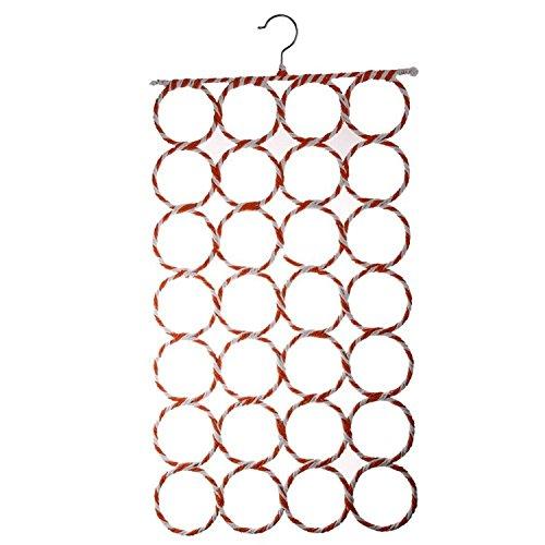 28 trous Slots de corde de l'anneau porteur crochet šŠcharpe ch?le Wraps stockage Hanger Organisateur
