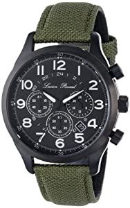 Lucien Piccard Men's LP-72376-BB-01-GRN Treviso Analog Display Japanese Quartz Green Watch by Lucien Piccard