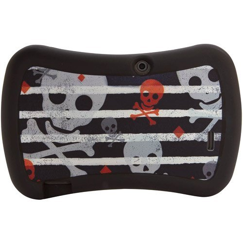 "7"" Tablet Universal Grip Safe Case, Green Skull - 1"
