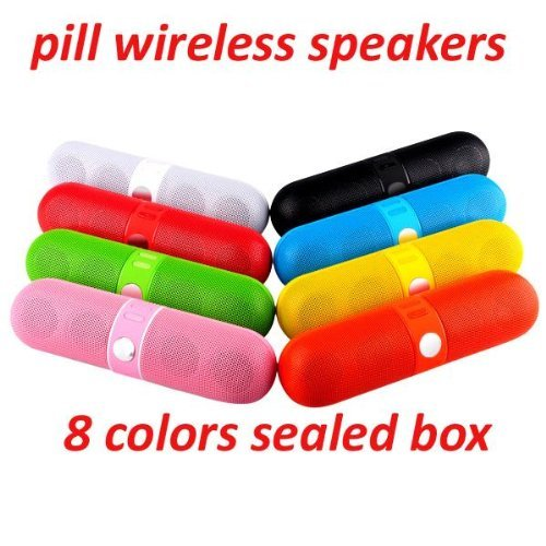 6Pcs Portable Wireless Bluetooth Pill Speaker With Microphone For Iphone With Microphone Ship