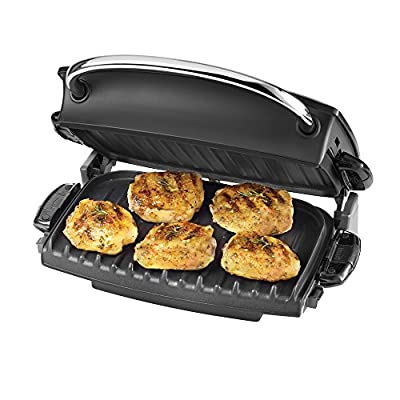 George Foreman GR236CTR G-Broil Cool-Touch Electric Nonstick Countertop Grill, Red from George Foreman