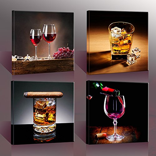 Wine whisky canvas prints wall art printing pictures for Best home decor from amazon