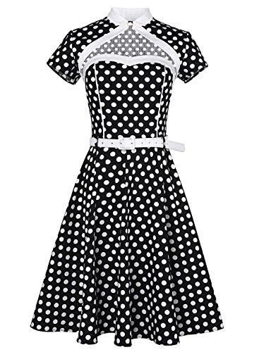 Anni Coco Hollow Out Heart Polka Dot Lolita Evening Party Swing Dresse