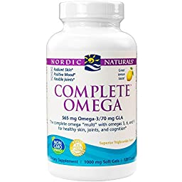 Nordic Naturals - Complete Omega, Supports Healthy Skin, Joints, and Cognition, 120 Soft Gels
